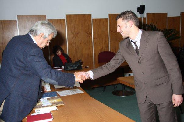 marzo-2009 laurea di Cortrado Trione a Palazzo Nuovo, Università di Torino